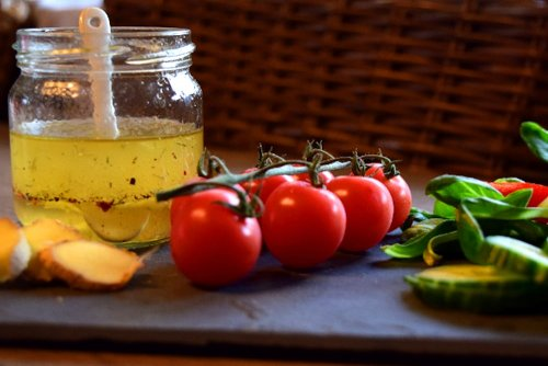 Asian salad dressing with ginger and ginseng