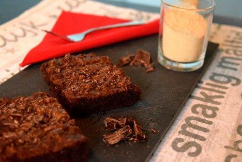 Amerikaanse Double-Choc Maca-Brownies