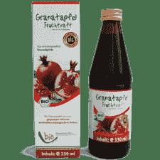 Bio Granatapfel Saft - 100% - 330ml Glasflasche