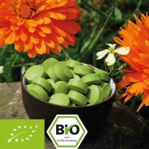 Bio-Gerstengras-Presslinge