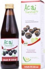 Biologische Acai sap - 100% - 330ml glazen fles 330ml