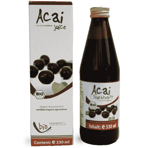 Organic Acai Juice - 100% - 330ml glass bottle