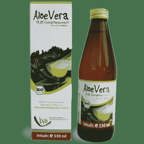 Bio Aloe Vera Saft - 330 ml Glasflasche