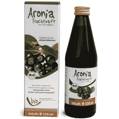 Organic Aronia Juice - 100% - 330ml in a glass bottle