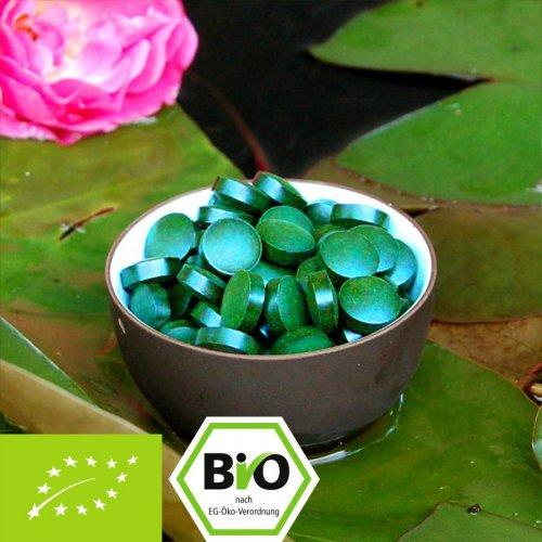 Bio Spirulina platensis Tabletten - 100% Bio zertifiziert mit Analyse