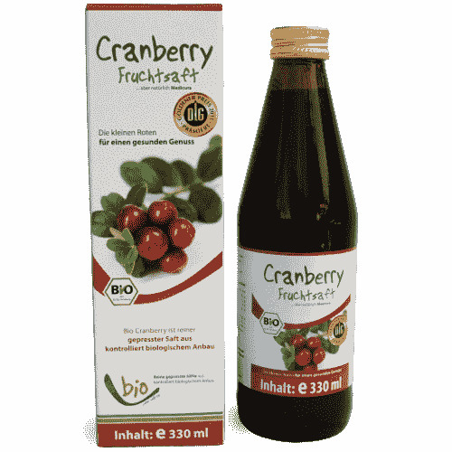 Bio Cranberry Saft - 100% - 330ml Glasflasche