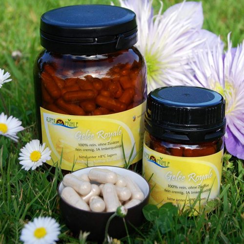 Royal jelly capsules - lyophilised - 100% pure