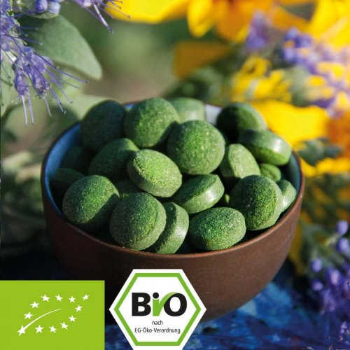 Organic Green Trio Tablets - barley grass - chlorella - spirulina