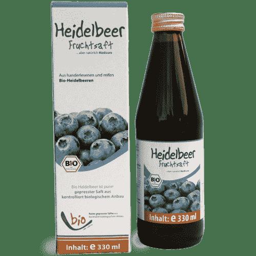 Bio Heidelbeer Saft - 100% - 330ml Glasflasche
