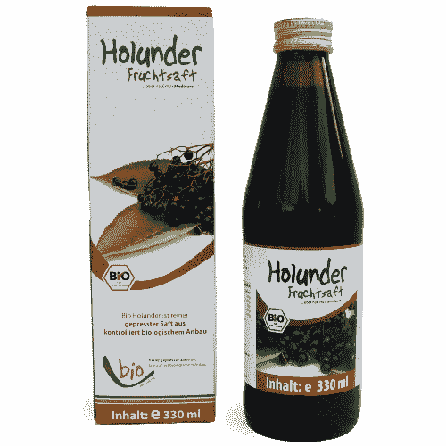 Organic Elderberry Juice - 100% - 330ml in a glass bottle