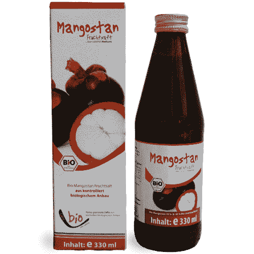 Organic Mangosteen Juice - 330ml in a glass bottle