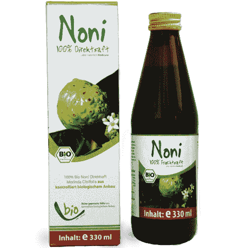 Organic Noni Juice - 100% - 330ml in a glass bottle