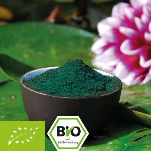 Bio Spirulina platensis Pulver - 100% Bio Qualität - ohne Zusätze