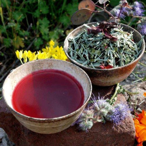 Julians Tanzanian tea mix - organic lemon grass, organic hibiscus, organic moringa