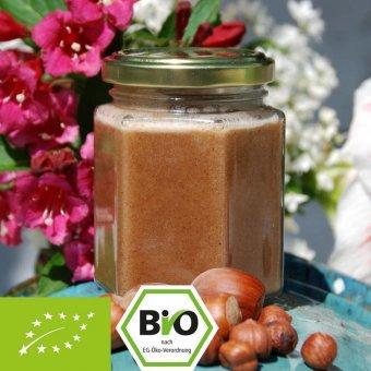 Bio-Honig-Nuss-Creme mit Haselnuss-Mus