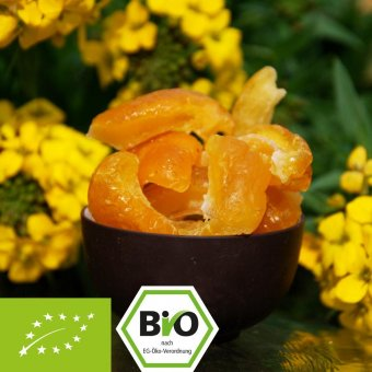 Organic quince pieces - candied - sweet-sour - aromatic