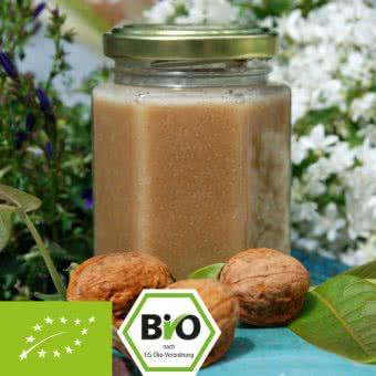 Bio-Honig-Nuss-Creme mit Walnuss-Mus