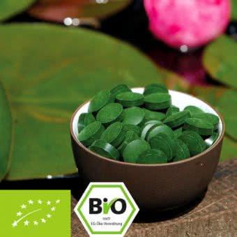 Organic Chlorella pyrenoidosa tablets - certified Naturland