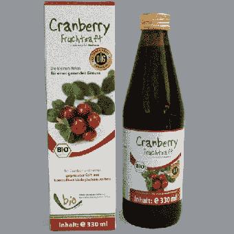 Bio Cranberry Saft - 100% - 330ml Glasflasche
