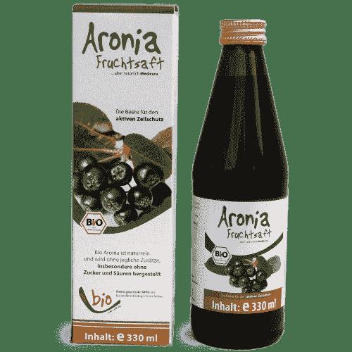 Organic Aronia Juice - 100% - 330ml in a glass bottle 330ml