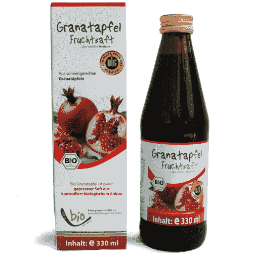 Organic Pomegranate Juice - 100% - 330ml in a glass bottle