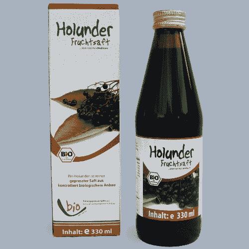 Organic Elderberry Juice - 100% - 330ml in a glass bottle