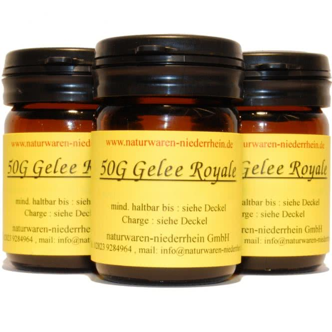 gelee royal 1a imkerqualit t 100 pur hier online kaufen 1kg 100g 50g gelee royal. Black Bedroom Furniture Sets. Home Design Ideas