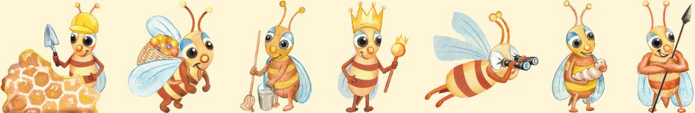 Bienenprodukte und Berufe