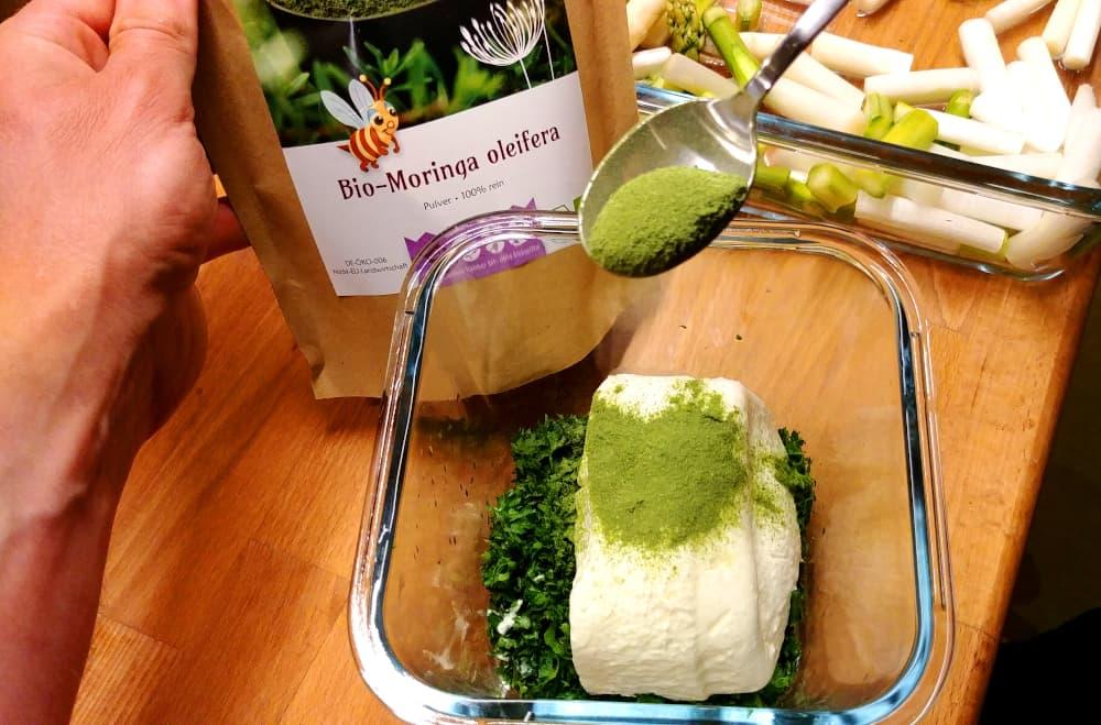 Kräuterquark mit Moringa